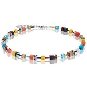 Coeur De Lion GeoCube Stainless-Steel Multicolour Daylight Fresh Necklace 2838-10-1563