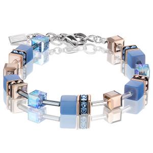 Coeur De Lion GeoCube Stainless-Steel Light Blue Bracelet 4016-30-0720