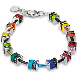 Coeur De Lion GeoCube Stainless-Steel Multi Coloured Bracelet 4409-30-1500