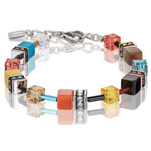 Coeur De Lion GeoCube Stainless-Steel Multicolour Daylight Fresh Bracelet 2838-30-1563