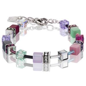 Coeur De Lion GeoCube Stainless-Steel Multicolour Romance Bracelet 2838-30-1566