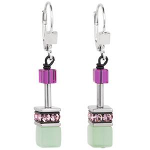 Coeur De Lion GeoCube Stainless-Steel Multicolour Romance Drop Earrings 2838-20-1566