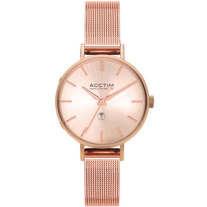 Acctim Bonny Women's Radio Controlled Rose Gold Mesh Bracelet Watch 60510