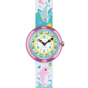 Flik Flak Splashy Dolphins Children's Quartz Blue Dial Watch FBNP035