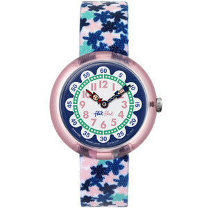 Flik Flak London Flower Children's Quartz White Dial Watch FBNP080