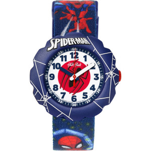 Flik Flak Spider-Man In Action Children's Quartz White Dial Watch FLSP012
