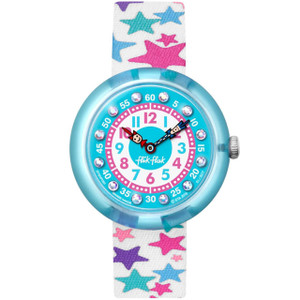 Flik Flak Tahtila Children's Quartz White Textile Strap Watch FBNP081
