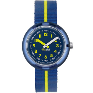 Flik Flak Yellow Band Children's Quartz Blue Dial Watch FPNP023