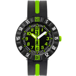 Flik Flak Green Ahead Children's Quartz Black Dial Watch FCSP032