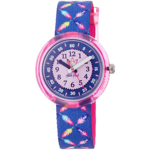 Flik Flak Cool Feather Children's Quartz Pink Dial Watch FPNP016