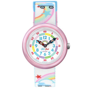 Flik Flak Roller Disco Children's Quartz White Dial Watch FBNP102
