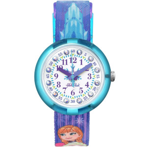 Flik Flak Disney Frozen Elsa & Anna Children's Quartz White Dial Watch FLNP027