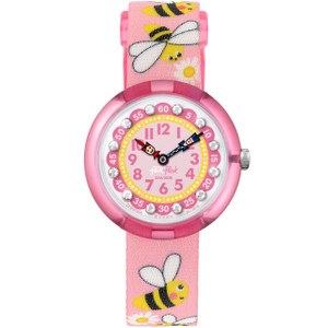 Flik Flak Daisy Bee Children's Quartz Pink Dial Watch FBNP098