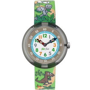 Flik Flak Sauruses Return Children's Quartz Textile Strap Watch FBNP048