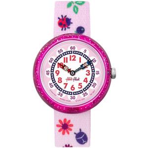 Flik Flak Autumn Colours Children's Quartz Pink Strap Watch FBNP093