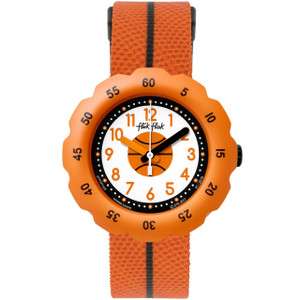 Flik Flak Dribble Children's Quartz Orange Strap Watch FPSP026