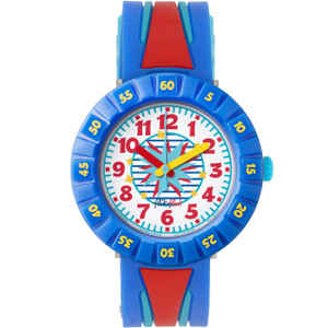 Flik Flak Wild Sailor Children's Quartz White Dial Watch FCSP052