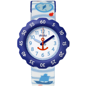 Flik Flak Anchor Up Children's Quartz White Dial Watch FPSP027