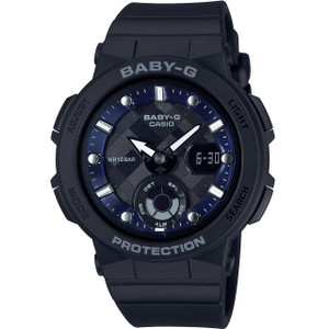 Baby-G Ladies Blue Dial Black Strap Analog-Digital LED Backlight Watch BGA-250-1AER