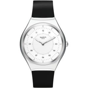 Swatch Skin Irony Skinnoiriron Unisex Quartz White Dial Silicone Strap Watch SYXS100