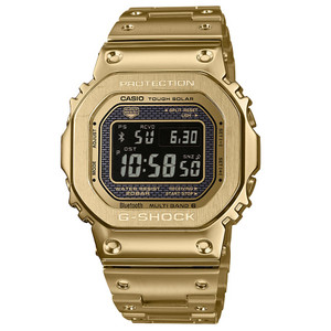 Casio G-Shock G-Steel Bluetooth Radio Controlled Solar Classic Gold-Tone Watch GMW-B5000GD-9ER