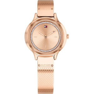 Tommy Hilfiger Women's Olivia Rose Gold Dial Stainless-Steel Bracelet Watch 1781911