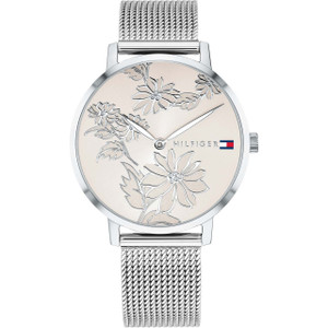 Tommy Hilfiger Women's Pippa Rose Gold Dial Stainless-Steel Mesh Bracelet Watch 1781920