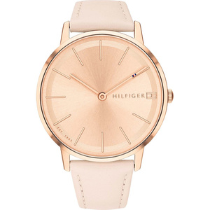 Tommy Hilfiger Women's Pippa Rose Gold Dial Leather Strap Watch 1781936
