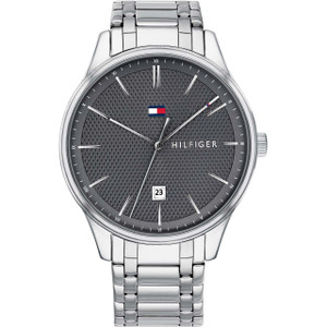 Tommy Hilfiger Men's Damon Grey Dial Stainless-Steel Bracelet Watch 1791490
