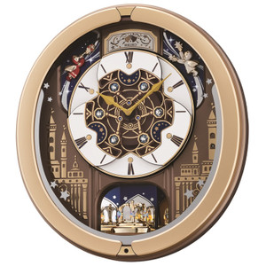 Seiko Melody In Motion Gold-Tone Case Musical Clock QXM350G