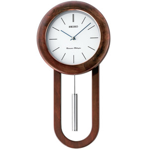 Seiko Westminster/Whittington Dual Chime Wooden Case Wall Clock QXH057B