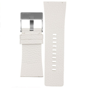 Diesel Replacement Watch Strap White Leather 35mm For DZ7087 With Free Connecting Screws