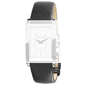 Armani Replacement Black Men's Leather Strap 18mm For AR2031