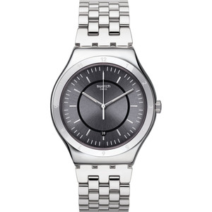 Swatch Irony Big Classic Stand Alone Grey Dial Stainless-Steel Bracelet Watch YWS432G