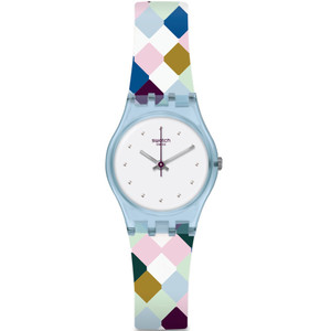 Swatch Original Lady Arle-Queen White Dial Silicone Strap Watch LL120