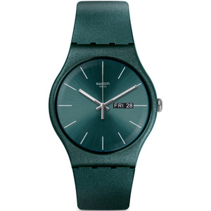 Swatch New Gent Ashbayang Green Dial Silicone Strap Watch SUOG709