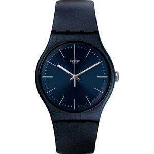 Swatch New Gent Naitbayang Navy Blue Dial Silicone Strap Watch SUON136