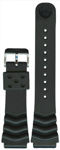 Seiko Replacement Strap For SRP639K1 Fits More Seiko Diver's Watch Black Rubber 22MM