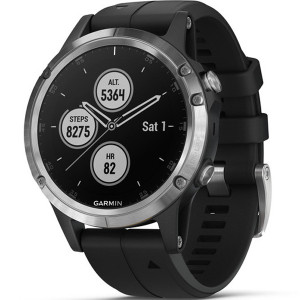 Garmin Fenix 5 Plus GPS Multi-Sport Multi-Sensor HR Music Black 47MM Smartwatch 010-01988-11