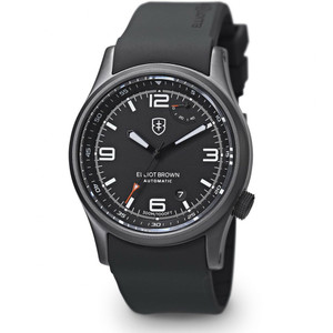Elliot Brown Tyneham Automatic Mens Black Rubber Watch 305-001-R06