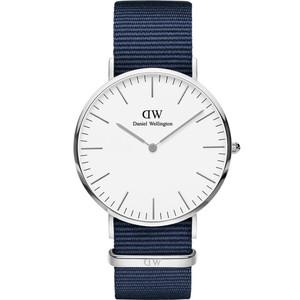 Daniel Wellington Unisex Classic Bayswater Eggshell White Dial Watch DW00100276