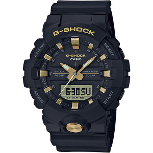 G-shock Black And Gold Analogue Digital Resin Strap Watch GA-810B-1A9ER