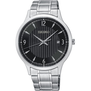Seiko Classic Men's Black Dial Stainless-Steel Bracelet Watch SGEH81P1