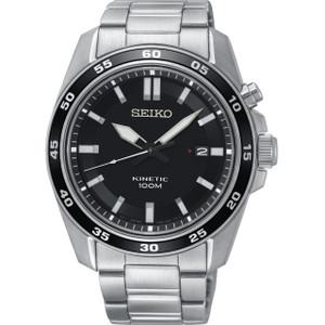 Seiko Kinetic Men's Black Dial Stainless-Steel Bracelet Watch SKA785P1