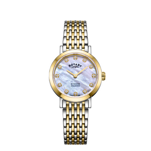Rotary Windsor Ladies Diamond Mother-Of-Pearl Dial Two-Tone Bracelet Watch LB05301/41/D