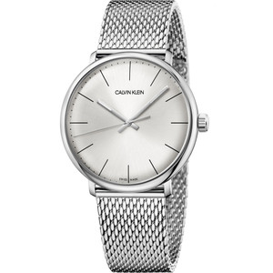 Calvin Klein Men's High Noon Silver Dial Stainless-Steel Mesh Bracelet Watch K8M21126