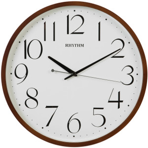 Rhythm Silent Silky Movement Wooden Case Round Wall Clock CMG133NR06