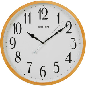 Rhythm Silent Silky Movement Wooden Case Round Wall Clock CMG133NR07