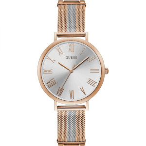 Guess Women's Lenox Quartz Two Tone Stainless-Steel Milanese Mesh Bracelet Watch W1155L4