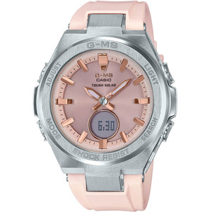 Casio G-MS Ladies Solar Powered LED Light Resin Strap Watch MSG-S200-4AER